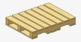 Four-Way, Non-Reversible Flush Pallet