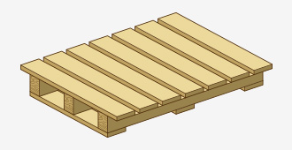 Two-Way, Single-Wing Pallet